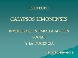 PRESENTACIÓN PROYECTO CALYPSOS LIMONENSES