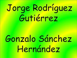 Gonzalo Sánchez Hernández Jorge Rodríguez