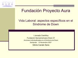 Fundación Proyecto Aura Vida Laboral: aspectos