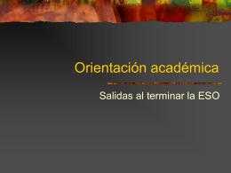 Orientación académica
