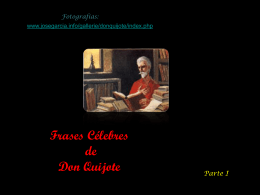 Frases célebres de Don Quijote