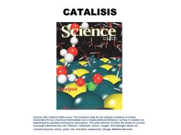CATALISIS - Departamento de Química Inorgánica,