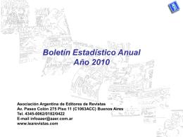 Boletín Estadístico Anual Año 2007