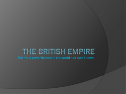 THE BRITISH EMPIRE - I.I.S.S. `P. CALAMANDREI` -