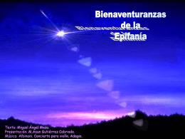 Bieneventuranzas de la Epifanía
