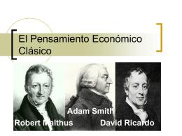 El pensamiento económico de Adam Smith 1723 – 1790