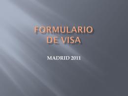 FORMULARIO DE VISA - Jóvenes en Acción