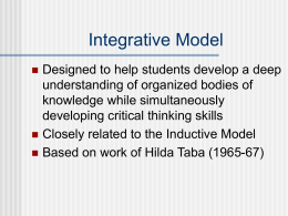 Integrative Model - Pearson Education North