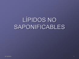 LÍPIDOS NO SAPONIFICABLES