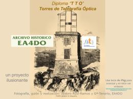 Inauguración de la Torre de Telegrafía Óptica de
