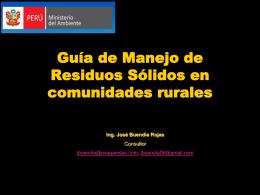 Guía de manejo de residuos en comunidades rurales