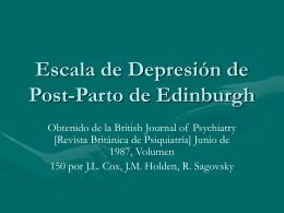 Escala de Depresión de Post