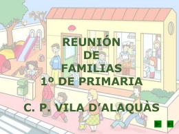 REUNION DE FAMILIAS 1º DE PRIMARIA