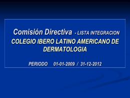 Comisión Directiva 2009-2012 - PIEL-L