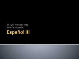 Español III - language