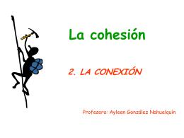 La cohesión