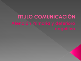 TITULO COMUNICACIÓN