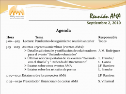 Reunión AMA Septiembre 2, 2010