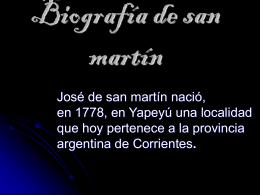 Biografía de san martín