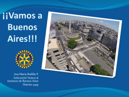 Comité Organizador INSTITUTO ROTARIO BUENOS AIRES