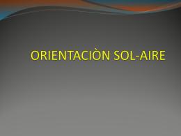 ORIENTACIÒN SOL-AIRE