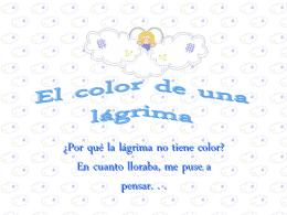 El color de una lágrima