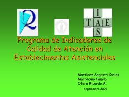 Programa de Indicadores de Calidad de Atención en