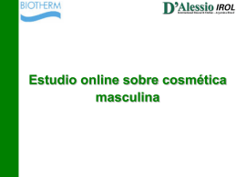 Estudio online sobre cosmética masculina
