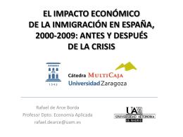 EL IMPACTO ECONÓMICO DE LA INMIGRACIÓN EN ESPAÑA,