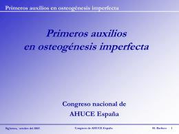 Primeros auxilios en osteogénesis imperfecta