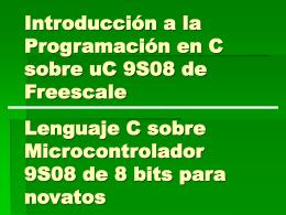 Programación en C de Microcontroladores de 8 bits