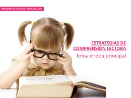 Programa de Lenguaje y Comunicación