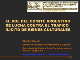 El rol del Comité Argentino de Lucha ctra tráfico