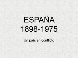 ESPAÑA 1898-1975