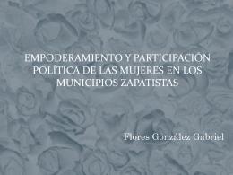 Empoderamiento y participación política de las