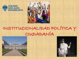 Institucionalidad política y ciudadanía