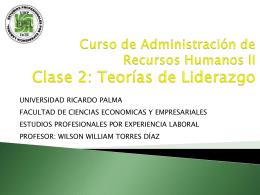 Curso de Administración de Recursos Humanos II