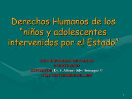 """Derechos Humanos de los """"niños y adolescentes"""