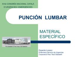 PUNCION LUMBAR - Corporació Sanitària Parc Taulí -
