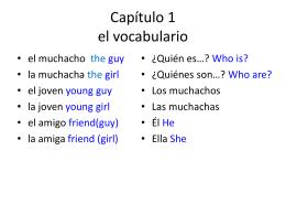 Capítulo 1 el vocabulario