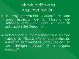 Argumentación Jurídica -