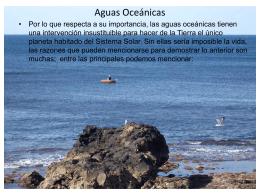 Importancia de las Aguas Oceánicas
