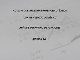 ANÁLISIS DERIVATIVO DE FUNCIONES