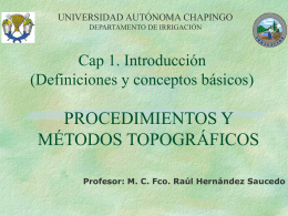 Procedimientos y métodos topográficos