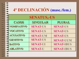 Declinación 4ª (Nivel B)