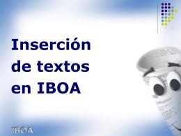 Introducción a la aplicación IBOA