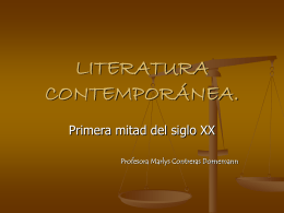 LITERATURA CONTEMPORÁNEA.