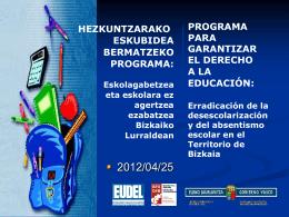 HEZKUNTZAKO IKUSKARITZA INSPECCIÓN DE EDUCACIÓN