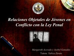 Relaciones Objetales de Jóvenes en Conflicto con