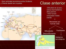 Desarrollo de los viajes de exploración europeos